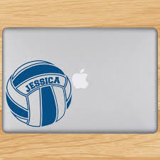 Volleyball Laptop Sticker Personalized Player Name Volleyball Green Laptop Decal Laptop Screen Repair Laptop Stickers