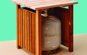 keep your propane tank out of sight