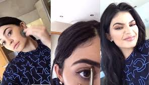 kylie jenner makeup snapchat routine
