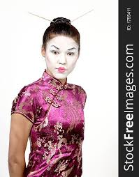 lady with geisha makeup free stock