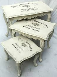 Painted Vintage Nesting Tables Reader Featured Project Shabby Chic Nest Of Tables Shabby Chic Decor Shabby Chic Dresser