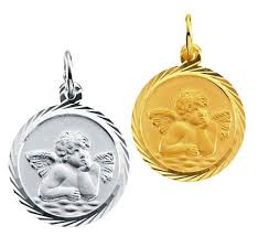 cherub angel medals in 14k gold 8067