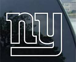 Amazon Com Crawford Graphix Ny Giants Decal 6 White Automotive