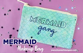 how to make a mermaid makeup bag