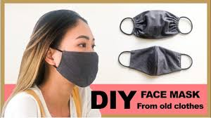 DIY FACE MASK from old clothes in 2 ...