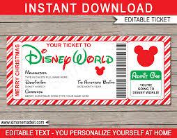 disney world gift ticket