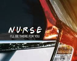Nurse Decal Etsy