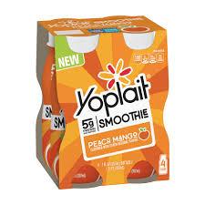 peach mango yogurt smoothie multipack