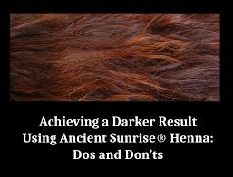 achieving a darker result using ancient