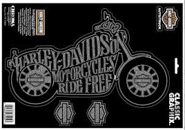 Harley Davidson Large Cruiser Motorcycle Logo Vinyl Window Decal