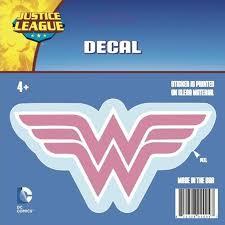 Wonder Woman Logo Car Decal Pink Buy Gag Gifts