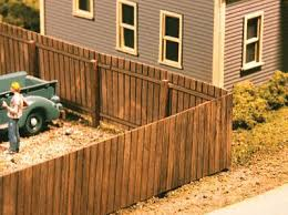 American Models Wood Privacy Fence Kit 120 Scale Feet Total Ho Scale Model Railroad Building Accessory