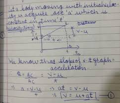 derive equation for velocity time