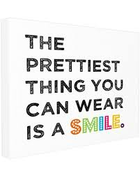 New Seasonal Sales Are Here 16 Off The Kids Room By Stupell The Prettiest Thing You Can Wear Is A Smile Textual Canvas Art 16 X 1 5 X 20 Proudly Made In Usa