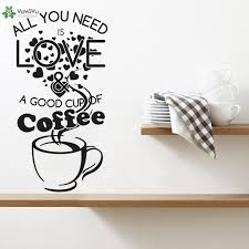 Wall Decal Creative Cafe Shop Wall Stickers Quotes All You Need Is Love Good Cup Coffee Window Logo Removable Decor Cool Wall Stickers Create Wall Decals From Onlinegame 11 04 Dhgate Com