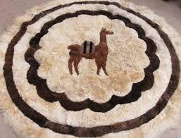 llama alpaca fur wall hanging or rug 66