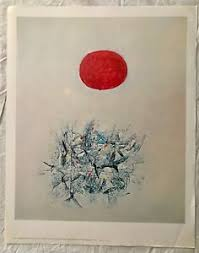 BEAUTIFUL VINTAGE ABSTRACT MIXED MEDIA LARGE MODERN ART PRINT BY ADOLPH  GOTTLIEB | eBay