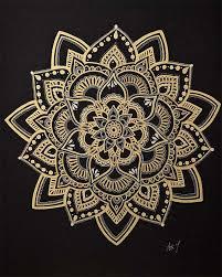 Mandala Art Gold Mandala Wall Art Flower Mandala Etsy Mandala Wall Art Mandala Meditation Flower Mandala