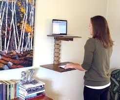 wall mounted standing desk