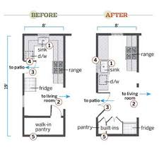 country homes galley kitchen floor plans