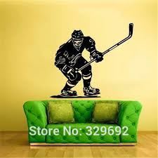 Vinyl Wall Sticker Ice Hockey Sport Player Nhl Stick Puck Bedroom Decor Wall Decals Tx 162 Decorative Wall Decal Wall Decalsvinyl Wall Stickers Aliexpress