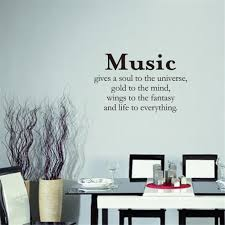 Music Gives A Soul To The Universe Art Apothegm Home Decal Wall Sticker Sale Price Reviews Gearbest