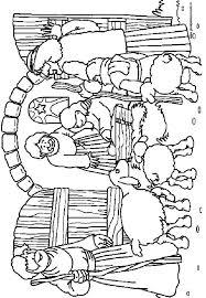 De Herders In De Stal Kleurplaten Bijbelknutselwerk Kerstmis
