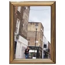 brass framed bistro mirror from paris