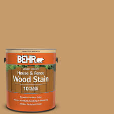 Behr 1 Gal S290 5 Amber Autumn Solid Color House And Fence Exterior Wood Stain 03001 The Home Depot