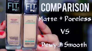 maybelline fit me foundations dewy