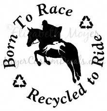 Ottb Off Track Thoroughbred Jumper Jumping Horse Born To Race Recycled To Ride Circle Decal Sticker Horseridingstyle Equestria Thoroughbred Horse Jumping Ottb