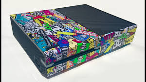 Skinown Sticker Bomb Xbox One Console Skin Installation And Review Youtube