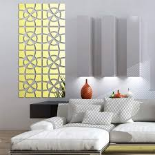 Tac City Goods Co Intricate Stitch Mirrored Wall Sticker Decal