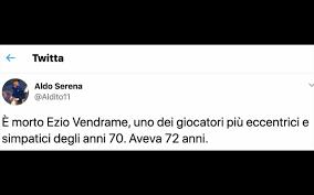 Ezio Vendrame è morto, è stato il George Best del calcio italiano
