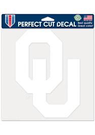 Oklahoma Sooners 8x8 White Auto Decal White 57100998
