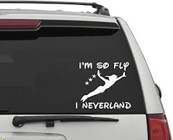 Peter Pan And Friends Flying Vinyl Decal Decal For Laptop Windows Wall Car Boat Rainbowlands Lk