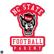 Nc State Wolfpack Pack Parent Under Wolfhead Football Decal Red And White Shop