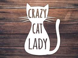 Crazy Cat Lady Cup Car Window Decal Cat Lover Mug Decal Gift Etsy Cat Decal Crazy Cat Lady Baby Decals