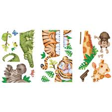 Unbranded 25 5 In X 28 In In The Jungle Super Jumbo Wall Decal 02586 The Home Depot