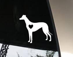 Greyhound Car Decal Etsy