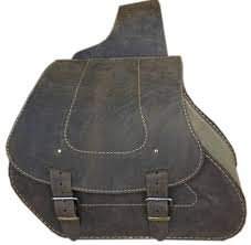 leather saddlebags throw over