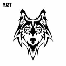 Yjzt 15cm 19 4cm Wolf Dog Car Styling Animal Truck Vinyl Decal Sticker Black Silver C2 3245 Vinyl Decals Stickers Decal Stickerstickers Black Aliexpress