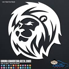 Lion Head Car Window Vinyl Decal Graphic Sticker