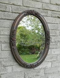 wall oval mirror with oil rubbed bronze