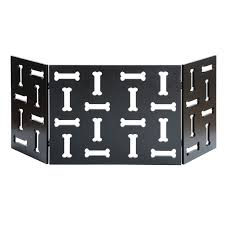 Shop 3 Panel Wood Pet Gate W Bone Cutout Design Freestanding Tri Fold Dog Fence For Doorways Stairs Indoor Outdoor Pet Barrier Overstock 28520656