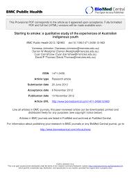 pdf starting to smoke a qualitative study of the experiences of