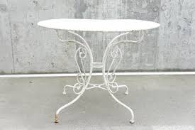 vintage metal garden table 1930s for
