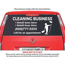 Rear Glass Decal Cleaning Services 7