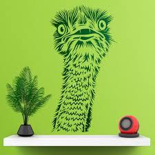 Wall Sticker Ostrich Head Muraldecal Com
