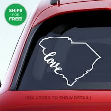 South Carolina State Love Decal Sc Love Car Vinyl Sticker Add A Heart To City Ebay